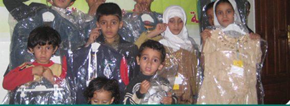 مؤسسة التضامن تنفذ مشروع كسوة العيد ولحوم الأضاحي لمئات المحتاجين